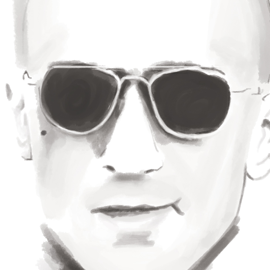 Taxi driver travis bickle portrait