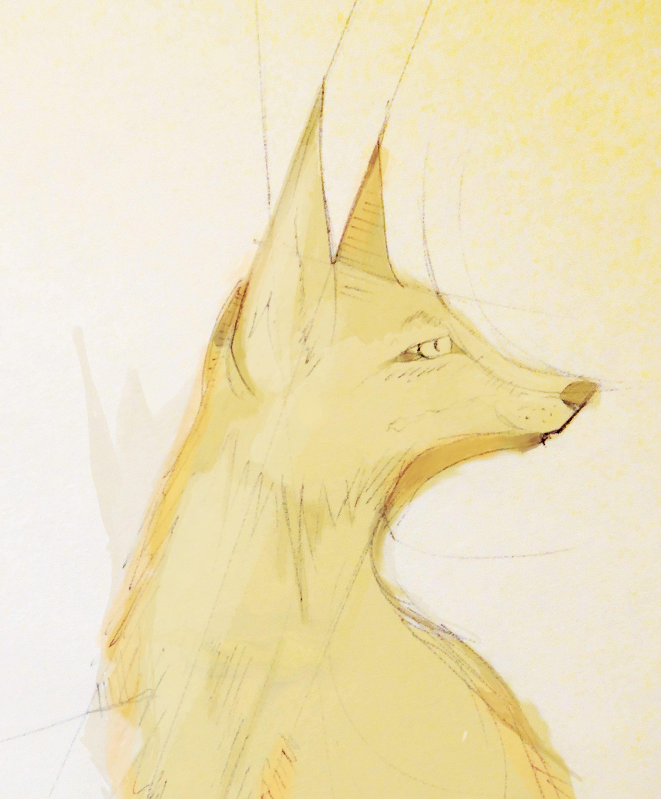 Yellow fox shabby chic