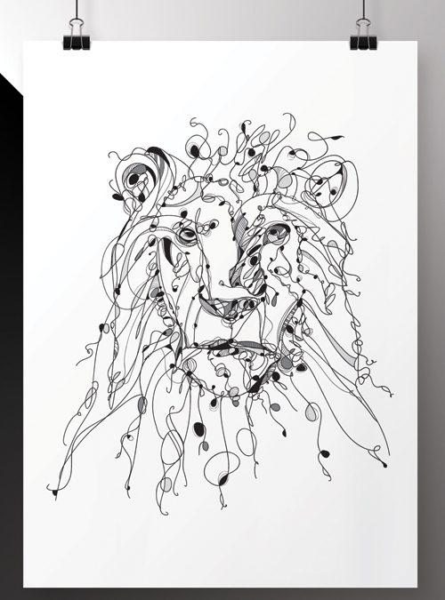 Panthera Leo Poster